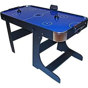 Gamesson L Pied pliable Table de air hockey–Bleu, 5pieds