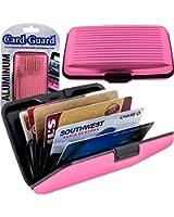 Aluminum Credit Card Wallet - RFID Blocking Case - Pink