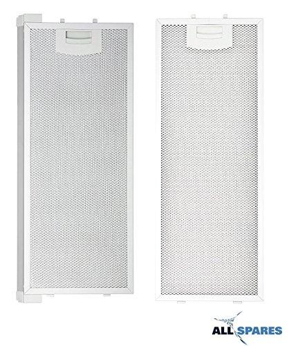 Kombipack Siemens / Bosch metall-fettfilter 352812 / 00352812 (445x175mm) / 352813 / 00352813 (420x175mm) passend für li23030 von AllSpares