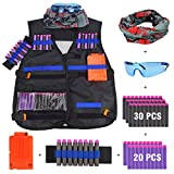 JVIGUE B074CFDWCF Taktische Weste Kit für Nerf Guns N-Strike Elite Battle, Schwarz