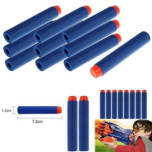 Airtana 120 Piezas 7 2 cm Espuma Azul Dardos Bullet  Para Nerf N Strike Elite Series Blasters Toy Gun