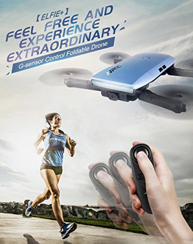 JJRC H47 ELFIE Plus Quadcopter 720P WIFI FPV Faltbare Selfie Drone Mit Gravity Sensor Kopfloser Modus Höhenhaltemodus RTF – Blau - 3