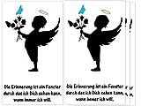 Sternenkind 4 Folien für Grablicht Kerze Trauerkerze Engel-Junge