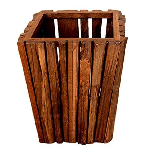 GMM® Boîtes à ordures en bois massif boîtes à ordures créatives Matériel Bois Taille 26 * 26 * 33cm Poubelles ménagères