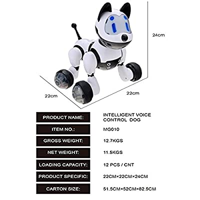 Dinglong Electronic Pet Dog Interactive Puppy, Voice Recognition Intelligent Electronic Robot Dog Educational Toy for Kids with Sound,Music,Dancing Robot Toy and Multi Mode