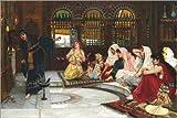 Posterlounge Acrylglasbild 180 x 120 cm: Befragung des Orakels von John William Waterhouse - Wandbild, Acryl Glasbild, Druck auf Acryl Glas Bild