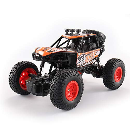 ACOC RC Cars, Ferngesteuertes Auto, Rabing Off-Road-Rock-Fahrzeug-Raupen-LKW 2,4 Ghz 4WD High Speed Doppelmotor 1:20 Funkfernsteuerung Rennwagen Elektro Fast Race Buggy Hobby Auto,Red
