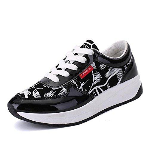 Mr. LQ - Casual Scarpe da corsa Moda traspirante Comfort DONNA Black