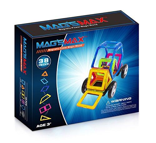 Preisvergleich Produktbild Kinslent 38 Teile Konstruktions Bausteine Spielzeug, BPA Frei, STEM pädagogisches Spielzeug - 3D Konzept pädagogische Lernspiel Set