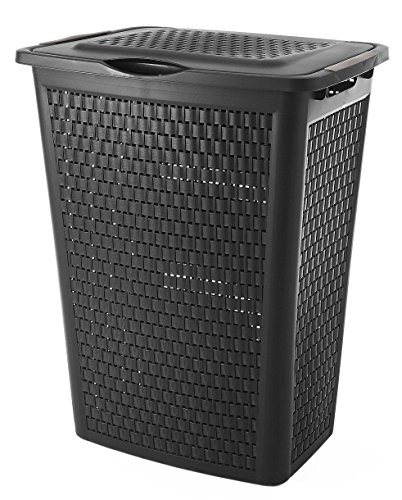 Sundis 4480017.0 portabiancheria, plastica, nero, 45 x 33.8 x 57.5 cm