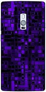 Snoogg Purple Digital 2422 Designer Protective Back Case Cover For One Plus Two