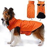 Generic Waterproof Dog Waistcoat Jacket Fleece Lined Raincoat Clothes XXXL Orange