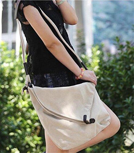 Auspicious beginning Reine Farbe Freizeit Single-Schulter Mode Multifunktions-weißen Umhängetasche Weiß