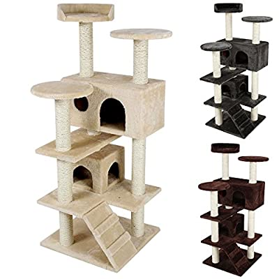 TecTake Cat scratcher activity center high quality cat tree -different colours-