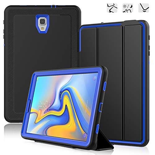 DAORANGE Hülle für Samsung Galaxy Tab A 10.5 SM-T590/T595, Stoßfeste Schutzhülle Case Cover mit Auto Schlaf/WachenFunktion Ständer für Samsung Galaxy Tab A SM-T590 SM-T595 10.5 Zoll 2018(Schwarz+Blau)