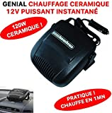ULTRA PRATIQUE CHAUFFAGE 12V SOUFFLANT SUR ALLUME CIGARE ! PUISSANCE 120W ULTRA RAPIDE ! SPECIAL VOITURE CAMPING-CAR CABRIOLET !...