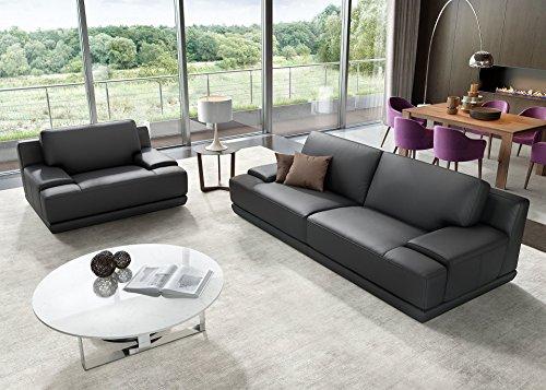 Designer Sofa Ledergarnitur Ledercouch Couchgarnitur Sofagarnitur 2Sitzer Sitzgruppe - 5