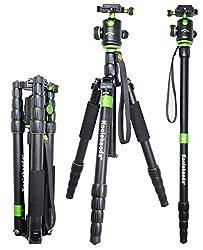 Koolehaoda® Tragbare Kamera-Stativ Einbeinstativ & Kugelkopf SLR-Kamera Canon Nikon Sony Stativ