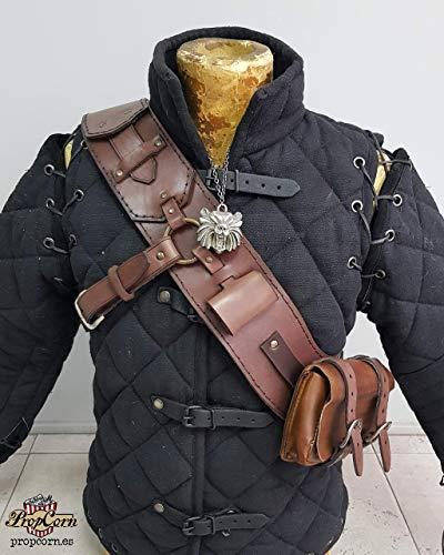 Hexer 3 Ursine Armor Baldric Nachbildung des Geralt von Riva Legendary Grandmaster Ursine Ausrüstung der Bärenschule in Leder handgefertigt