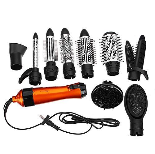 Lockenbürste Warmluftbürste Brush,Negativ Ionen Generator One Step Haartrockner Hot Air Styling Elektrische Pinsel Lockenwickler für alle Haartypen 1000W 2-in-1