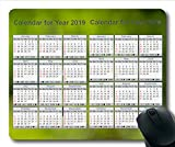 Yanteng Tapis de Souris Calendrier 2019, Calendrier USA Tapis de Souris de Jeu, planificateur de Calendrier 2019 avec détails de Vacances