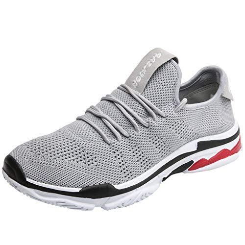 BaZhaHei Moda Scarpe a Rete Sneakers Donna,Student Respirabile Scarpe Sportivo Donne Leggero Lace-up Scarpe da Corsa Casual Scarpe da Lavoro Running Fitness Shoes con Sportive All'aperto 35-46
