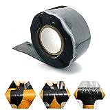 Marke New SCHWARZ Repair Tape Wasserdicht Dichtungsband Silikon Rescue Tape vulkanisierend Tape Betriebstemperatur-60C bis 260C