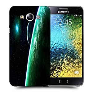 Snoogg Whole Galaxy Printed Protective Phone Back Case Cover ForSamsung Galaxy E5