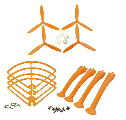 Generic SYMA X8 X8C X8G X8W X8HC X8HW axis UAV orange propeller blades upgrade protective sleeve protective ring gear tripod