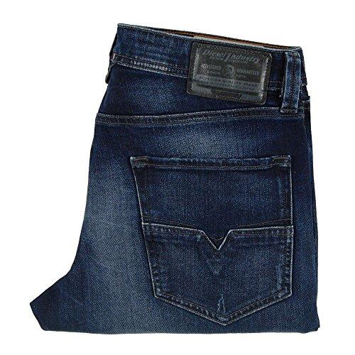 Diesel Herren Tapered Fit Jeans Larkee-Beex Pantaloni Blau