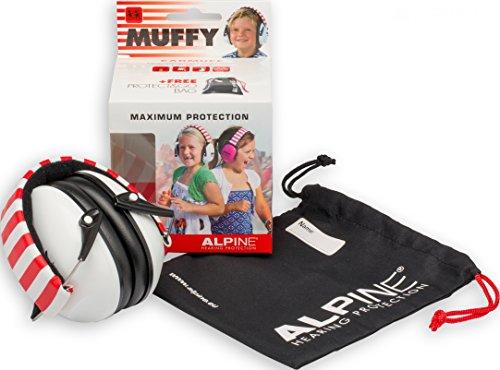 Alpine Muffy - Kinder Gehörschutz - Kapselgehörschutz - Weiß, 1er Pack - 2