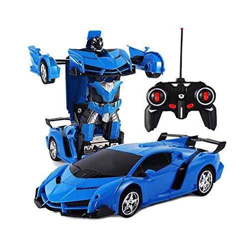 AIOJY Deformable Remote Car Transformer 1/18 ferngesteuerte Autos fahren Sportwagen Roboter Modell 4CH Fernbedienung Kinder Spielzeug Geschenk, Fahrzeuge Spielzeugauto for Kleinkinder Kinder Jungen Mä