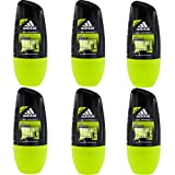 6 x 50ml Adidas Pure Game Roll On Deo Deodorant Rollon Deostick Herrendeo