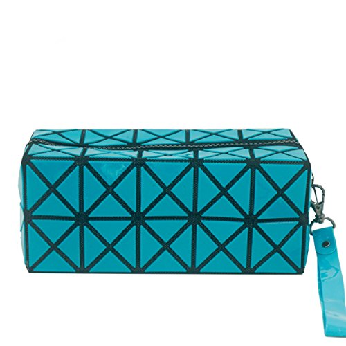 Lavare La Collezione Di Sacchetti Cosmetici Da Viaggio Multiuso Mano In Possesso Di Un Sacchetto Cosmetico Professionale Blue