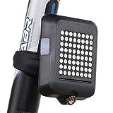 CAIM-Lampensets Fahrlicht Scheinwerfer Intelligente Induktionslenkbremse Laser Rücklichter USB Aufladung Lenk Sicherheitswarnlichter (Color : Black)