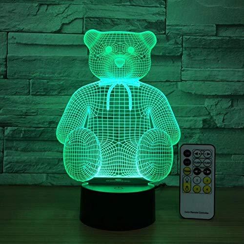 3D USB LED Sitzen Nette Bär Lampe Nachtlicht Home Office Room Decor Kinder Spielzeug Weihnachtsgeschenk 7 Farben