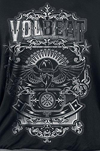 Volbeat Old Letters Girl-Shirt Schwarz/Grau Schwarz/Grau