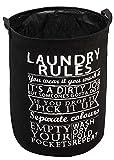 #8: HOKIPO® Foldable Cloth Laundry Bag Hamper, Large 63-Ltr (Black)