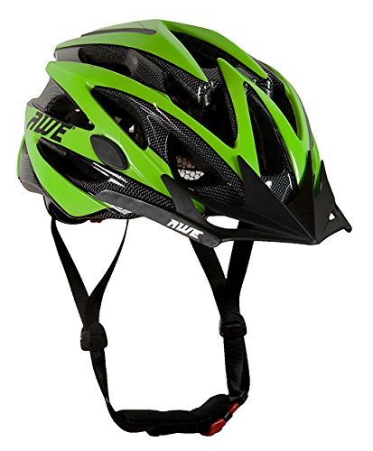 AWE® WaveTM 24 Vents doppio In-Mould per Casco Bici Adulto 56-58cm Nero/verde
