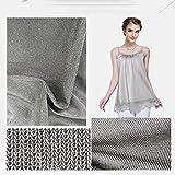 Strahlungsbeständiges Silberfasergewebe, DIY kann als Maschinenraumvorhang elektrische Abdeckung Kleidung Decken wirksame Abschirmstrahlung verwendet werden, sorgt für ein gesundes Leben,66cmx150cm