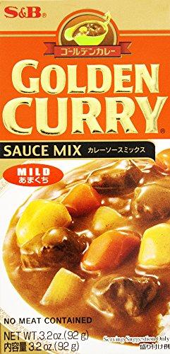 S&B Golden Curry Sauce Mix mild 92g (Goldener Curry Mix)