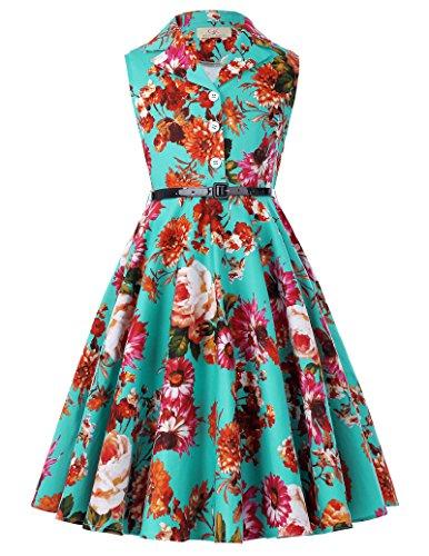 retro kleid swing Sommer Kleid 6-7 jahre CL9000-7 (Mädchen Swing-kleid)