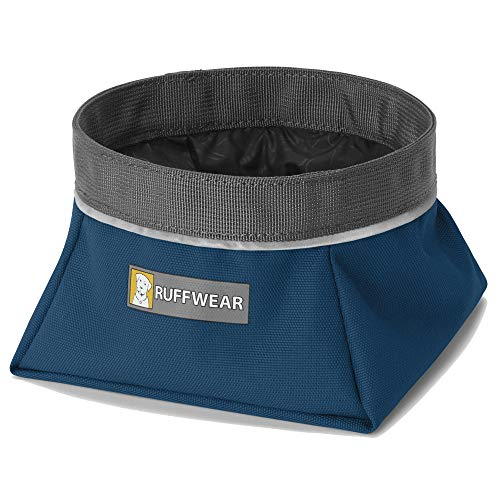 Ruffwear Packbarer Hundenapf, Größe: M, Fassungsvermögen: 1 L, Blau (Blue Moon), Quencher, 20502-460M -