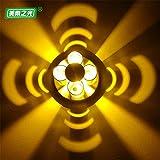 YU-K Einfache Vintage Schlafzimmer Wand Lampe kreative Wohnzimmer Esszimmer leuchten Gang lichter Wein Schrankwand Beleuchtung schießen Wandleuchte Gang Wandleuchte Weinbar Wandleuchte KTV Wandleuchte Wandleuchte Wand Bar Wandleuchte Farbe ändern Wandleuchte, hoch 6 CM φ 10 CM, gelb