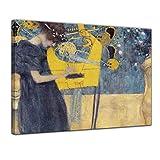 Bilderdepot24 Kunstdruck - Alte Meister - Gustav Klimt - Die Musik - 40x30cm einteilig - Leinwandbilder - Bild auf Leinwand
