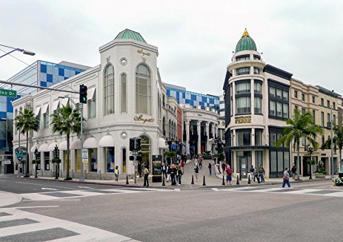 hansepuzzle 19028 Orte - Beverly Hills, 260 Teile in hochwertiger Kartonbox, Puzzle-Teile in wiederverschliessbarem Beutel.