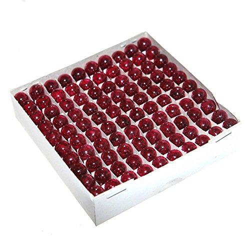 Joy-Button 100x 12Volt 5W Birnchen T10 GE#161 GE#158 GE#168 GE#193 GE#194 W2,1x9,5d Glassockel Stecksockel Ersatzlampe für Musicbox Pinball Neu [D] (Rot ) (Glühlampe 168)
