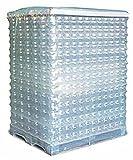 20x PE Schrumpfhaube schlauch Paletten Sicherung 1250+850x1800mm 90µ transparent Haube ABDECKHAUBE 90my Schrumphauben