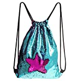 Best Gifts For An 8 Year Old Girls - Play Tailor Mermaid Drawstring Backpack, Sequin Drawstring Dance Review