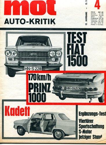 MOT auto-kritik, 12. Jahrgang, Heft 4/1966 -